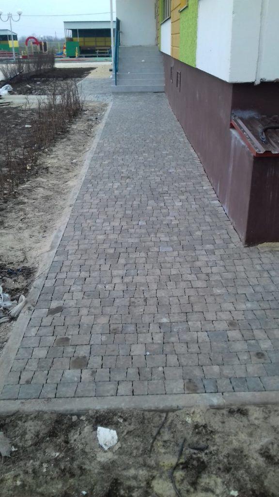 Укладка тротуарной плитки в ростове