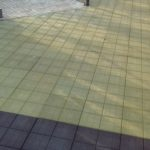 Укладка резиновой тротуарной плитки